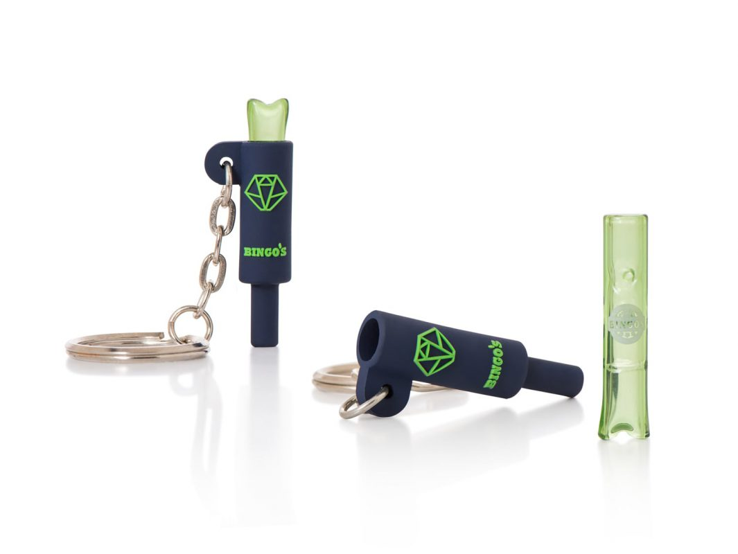 NEW Bingo's UltraLight Glass Filter Tips, 3 designs , Model Balanced green