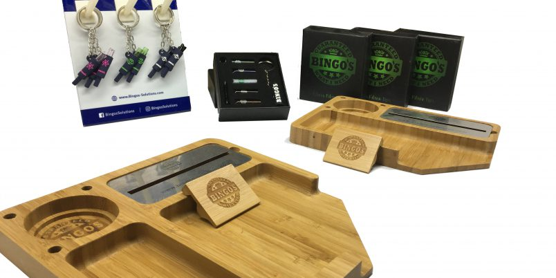 Bingo's Smart Comfort and EASY Rolling Tray + Smart Glass tips with displays and gift boxes