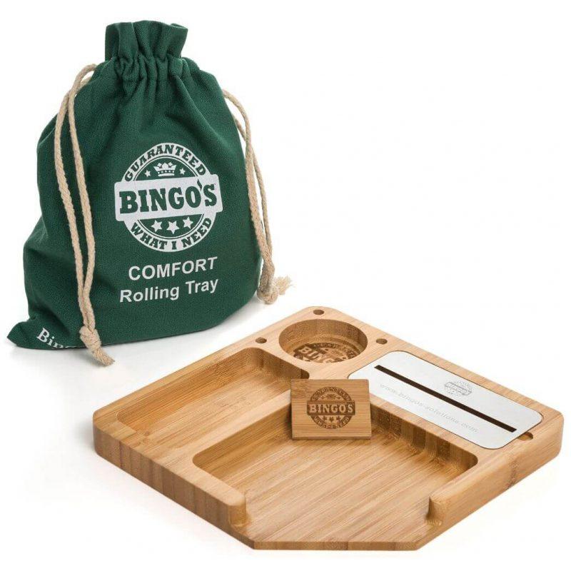 Bingos Smart Bamboo Rolling Tray Main Image model COMFORT