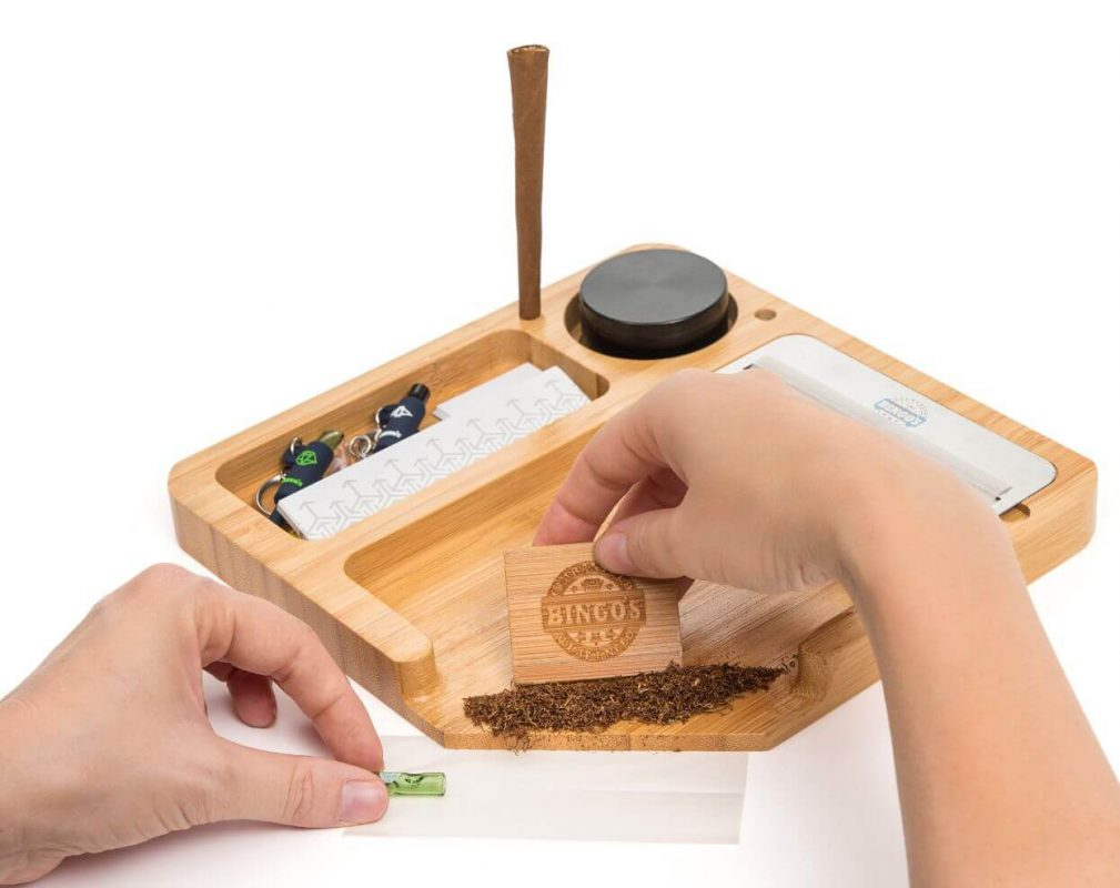 Bingos Smart Bamboo Rolling Tray Using Image model COMFORT