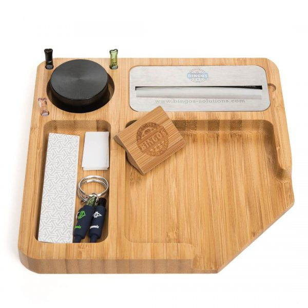 Bingos Smart Bamboo Rolling Tray Image with Accessories model COMFORT